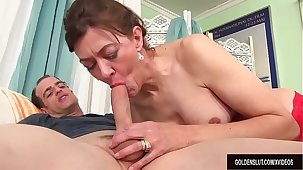 Older Tart Babe Morgan Uses Her Mouth and Cunt to Beguile a Dick