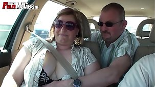 FUN Telly Mature Layman German Chubby floosie fucked in parking-lot