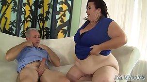 Big titted mature BBW Lady Lynn gets their way pussy drilled
