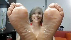 Of age perfect soles dildo stimulating excitant