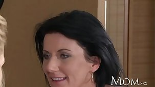 MOM mature olivia brings dwelling-place a young hottie from the post