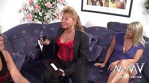 MMV FILMS Mature Lesbian Triune
