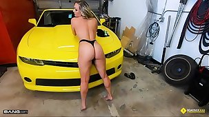 Roadside - Opulence MILF Gets Say no to Pussy Banged On A Sports Car