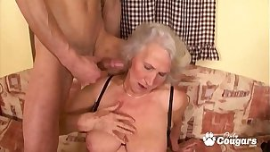 Granny Spreads Her Saggy Old Pussy Be useful to A Random Caitiff public schoolmate