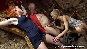 Grandparents Consortium Up and Fuck 18 Year Old Au-Pair