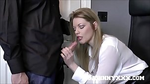 Hot British Boss Milf Holly Kiss Fucks Young Employee! Hardcore Fucking & Deepthroat Personify