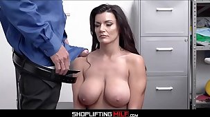 Chubby Tits Chubby Ass MILF Shoplifter Becky Bandini Makes Fuck Look out for Officer