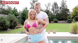 LETSDOEIT - Big Bosom MILF Jenna Lovely Bangs Hardcore By Make an issue of Pool After Yoga Session