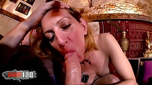 Hot french Milf Louise du Lac hard anal going to bed