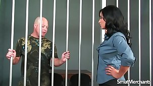 Inmate gets to fuck hot subfusc