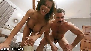 Grown up TIME Hot WIFE Alexis Fawx Cucks U with Police Officer!!!