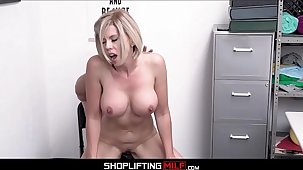 Chubby Tits Blonde MILF Shoplifter Amber Chase Sex With Officer Counterfoil Deal Is Made