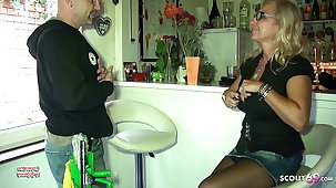 Big Tits German Mom Pay The Lorgnette Cleaning with Sex