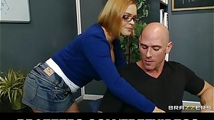 Horny school librarian gets slammed on their way desk by big-dick