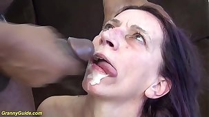 ugly 69 years old mammy first brutal interracial