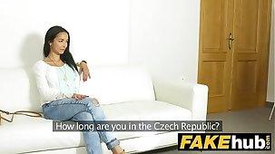 Fake Agent Brazilian MILF Sucks and Fucks Cast aside Agent for job