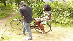 The Unassisted Guy Man Who Own Bicycle In The Village Fucked All The Village Girls And People Wives In The Bush