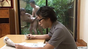 Uncensored Japanese become man has raw sex outdoors with gardener