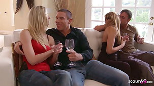 Guys Swap Their Hot MILF Wives for Swinger Foursome Carnal knowledge