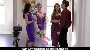Stepson Tricks Stepmom And Stepsister With Easter Kit