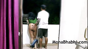 Indian Aunty Outdoor With Say no to Husband Giving Blowjob Fucking